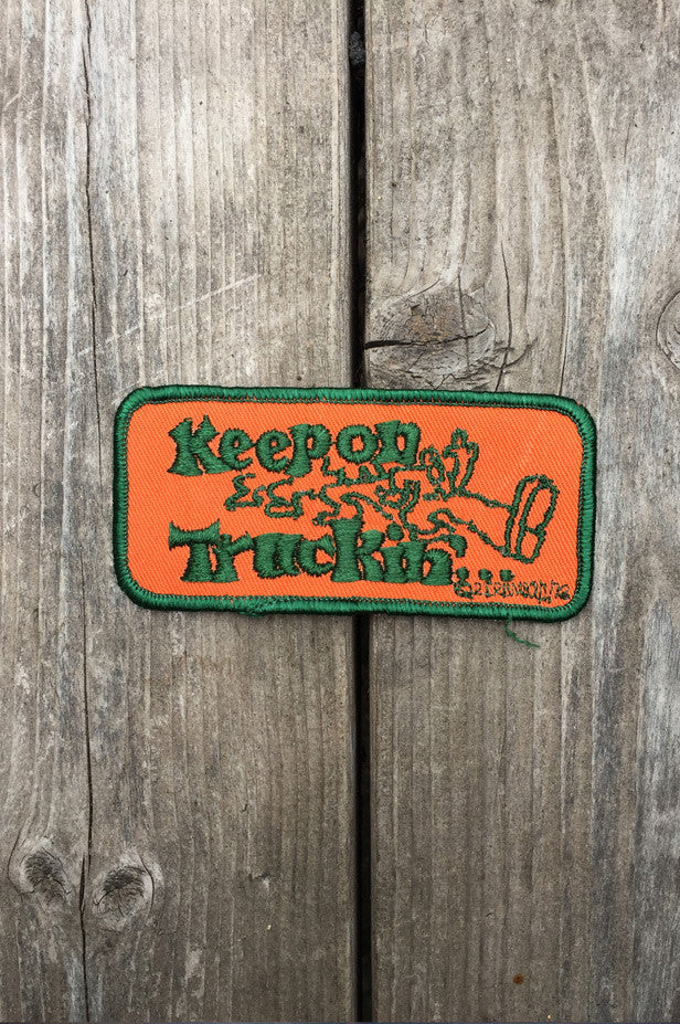 "Patches R. Crumb Authentic 70's Dead Stock ""Keep On Truckin"" Square"