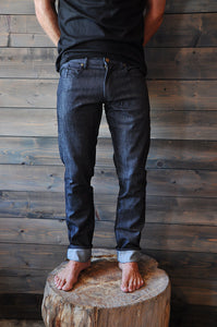 Denim Seaweed and Gravel Mens Slim Jeans Black