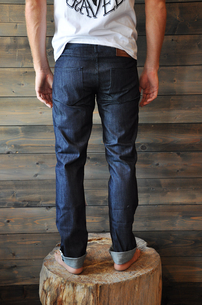 Denim Seaweed and Gravel Mens Slim Jeans Indigo