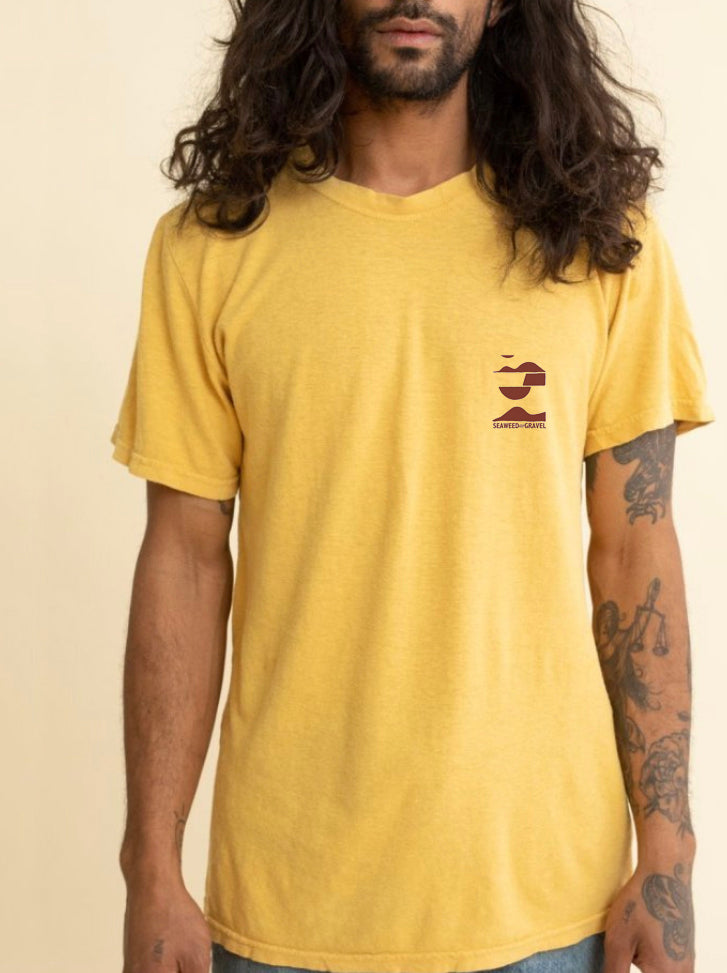 "Tee ""Hills and Valleys"" Sunrise Premium Hem/Cotton"