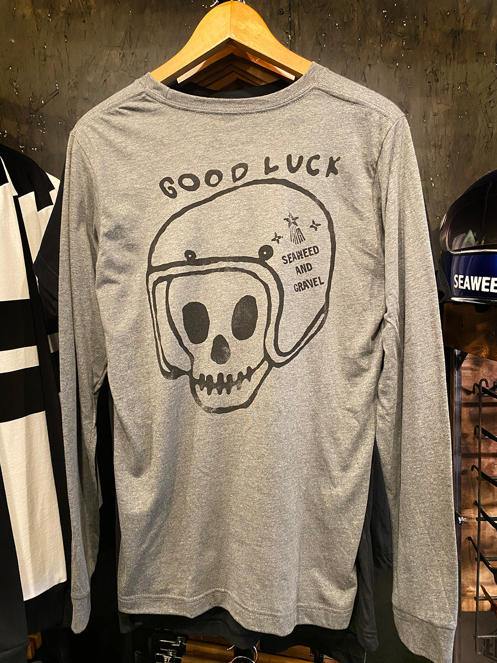 "Tee ""Good Luck"" L/S Heather Grey"