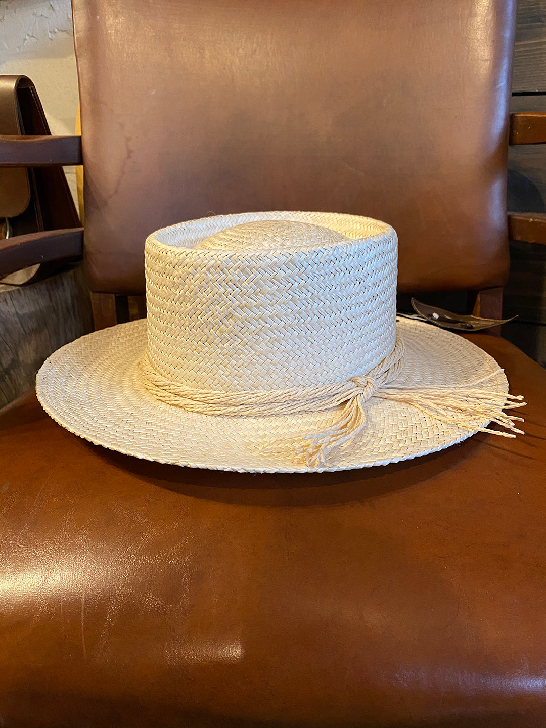Hat Boater Straw by Peter Grimm