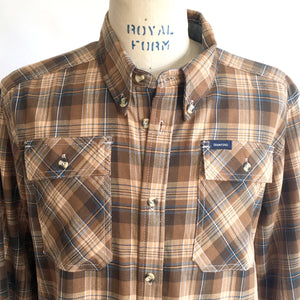 Crawford Denim Khaki Plaid Button Down Shirt