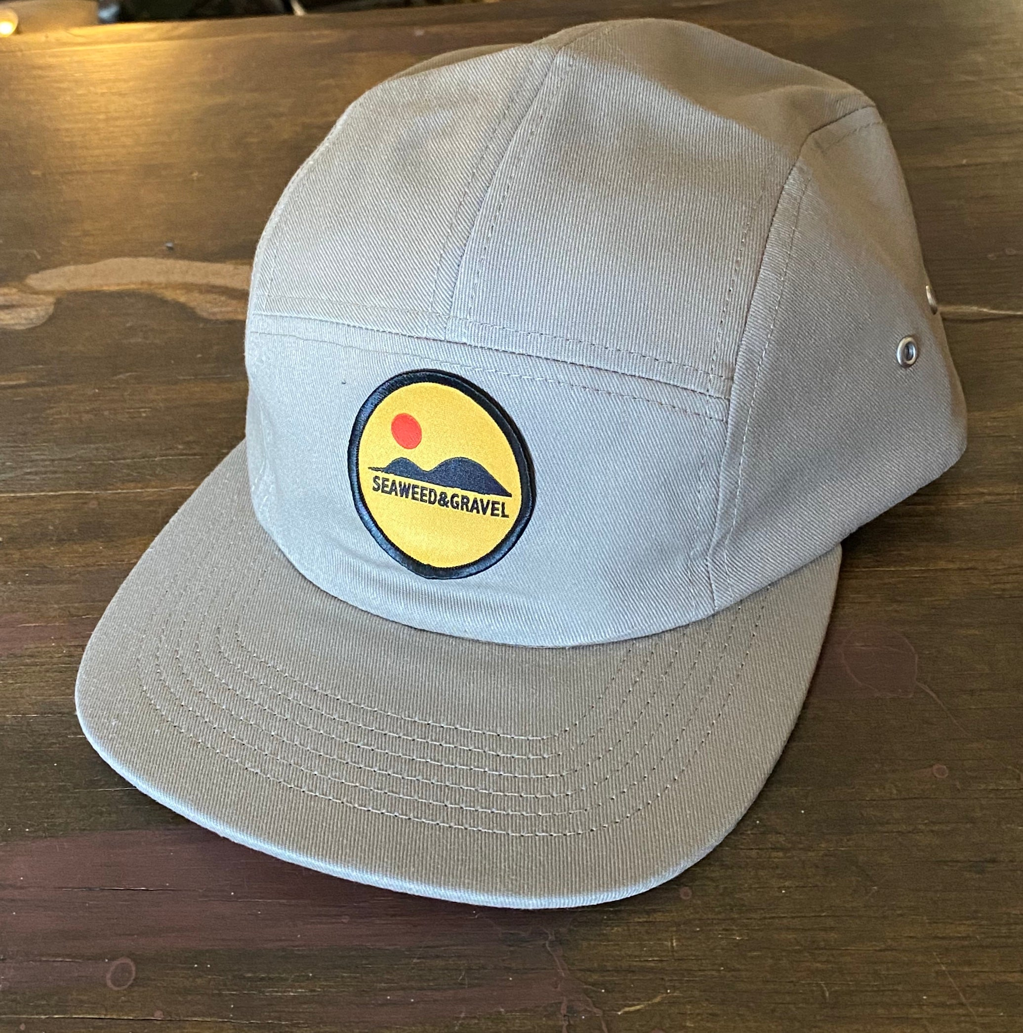 "Cap ""Hills"" 5 panel Twill Khaki Hat by Seaweed and Gravel"
