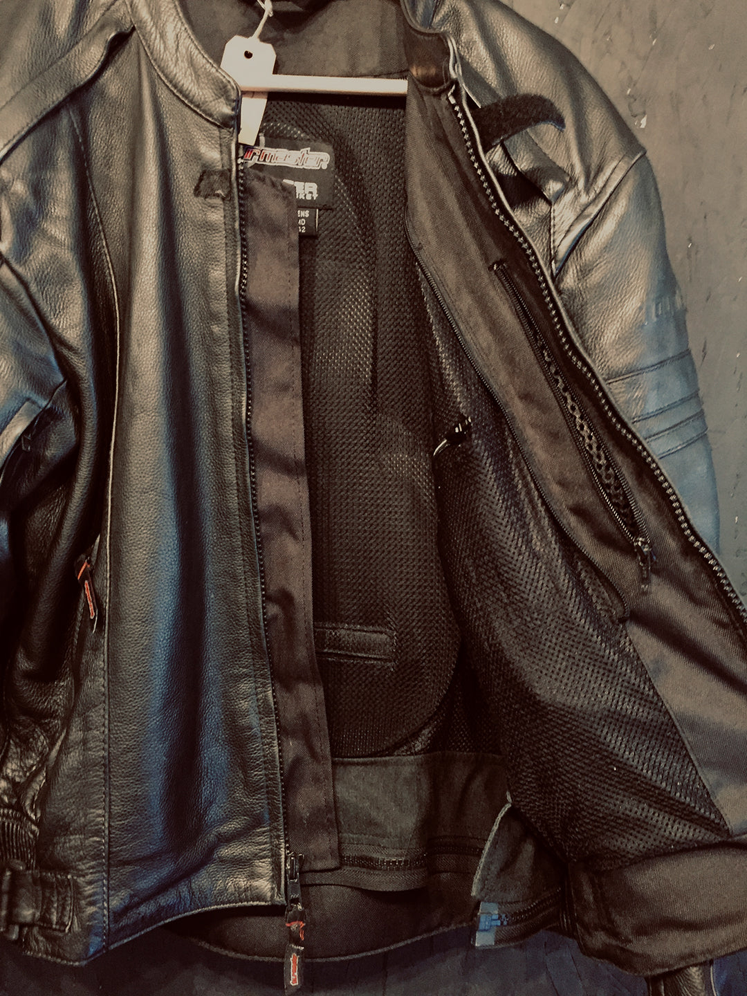 Jacket Leather Black Armored L #18511