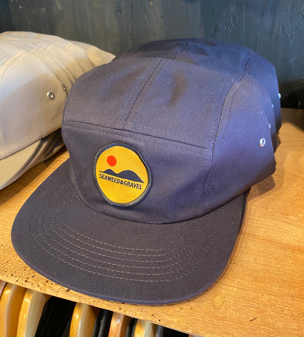 "Cap ""Hills"" 5 panel Twill Navy Hat by Seaweed and Gravel"
