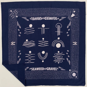 Bandana Seaweed and Gravel Navy