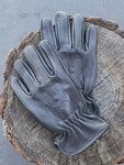 "S&G Riding Gloves ""Desert Logo"" Soft Deer Skin Black"