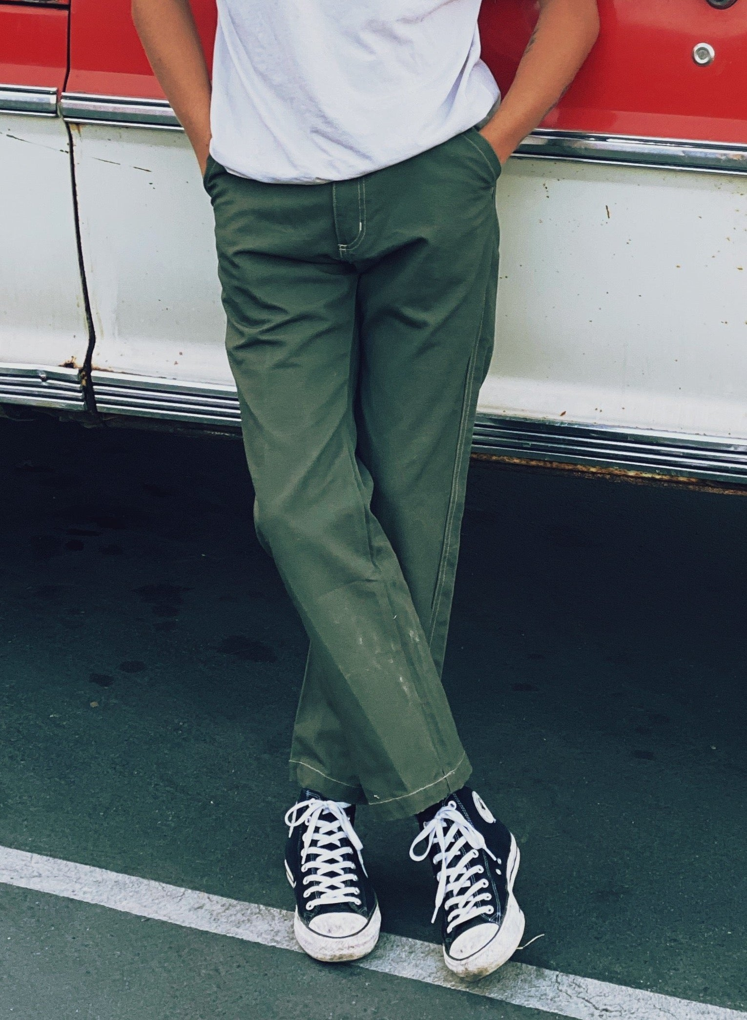 "Canvas Pant ""Malcolm"" Green"
