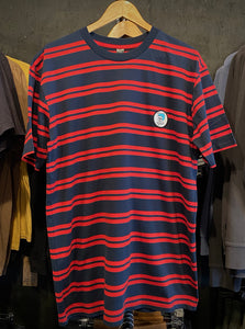 "Tee Stripe ""Good Luck Patch"" Navy/Red S/S"