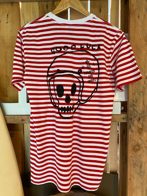 "Tee Stripe ""Good Luck Rider"" Red S/S"