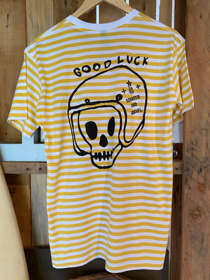 "Tee Stripe ""Good Luck Rider"" Yellow S/S"