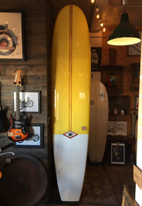 Surfboard Yellow Longboard Hot Rod Surf 9' 4""