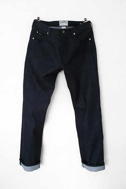 Denim Crawford Mens Straight Selvage Jeans