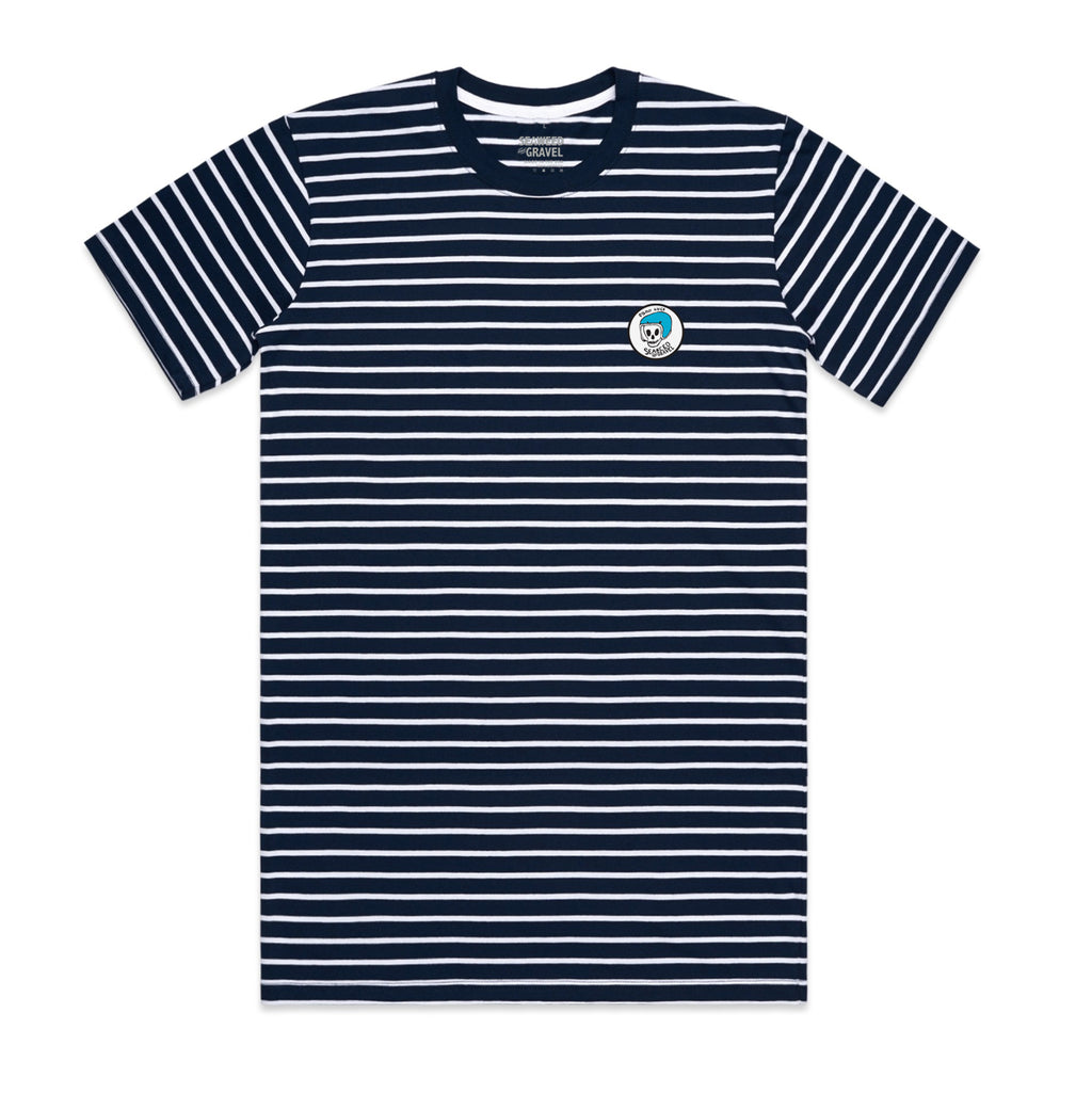"Tee Stripe ""Good Luck Patch"" Navy/White S/S"
