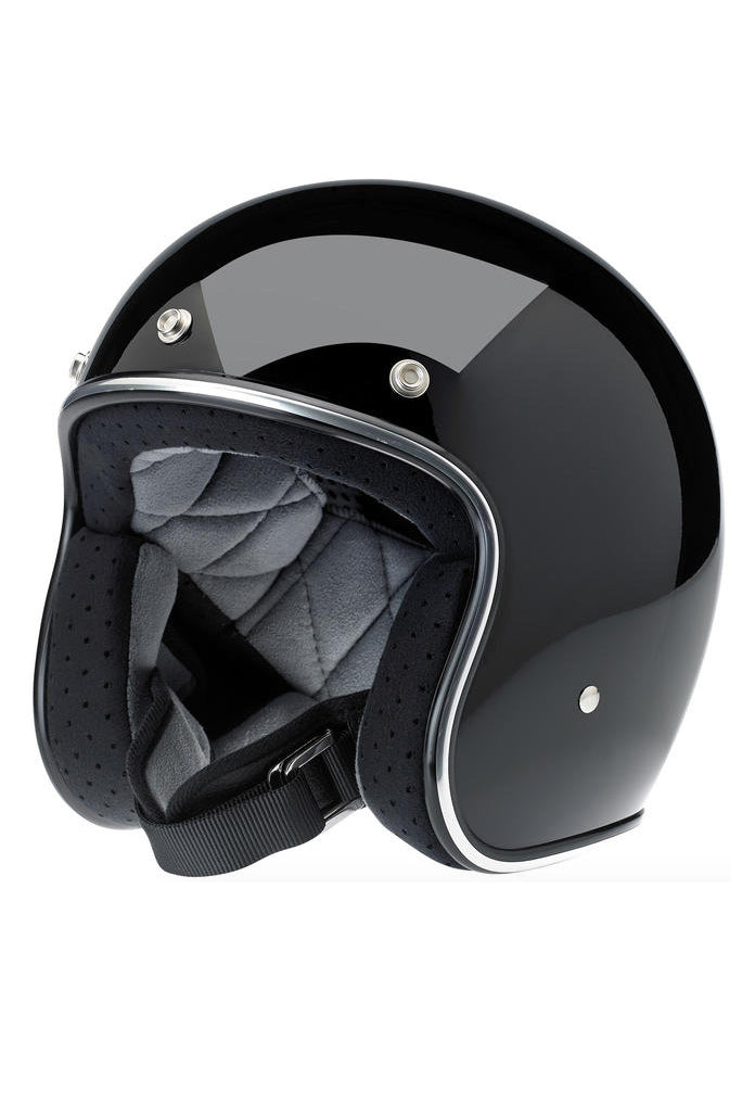 Helmet Bonanza Open Face Biltwell Gloss Black New