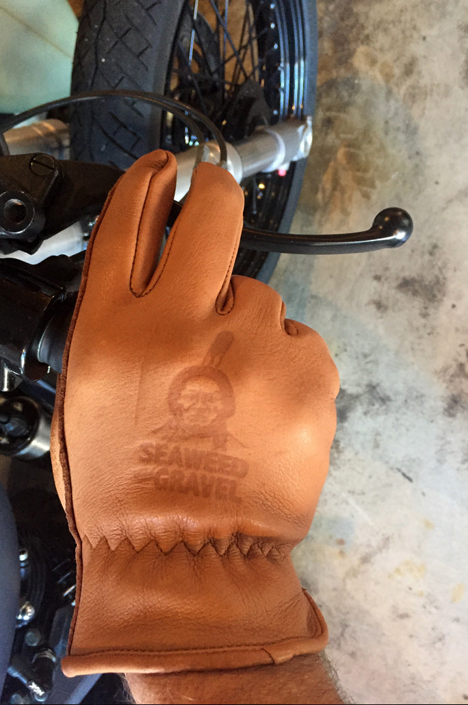 Riding Gloves Soft Deer Skin Brown