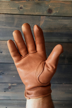 "S&G Riding Gloves ""Desert Logo"" Soft Deer Skin Brown"