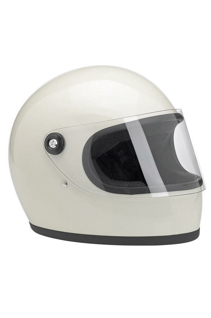 Helmet S Full Face Biltwell Gloss White New