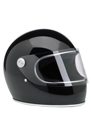 Helmet Gringo S Full Face Biltwell Gloss Black New