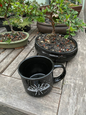"Mug ""Seaweed and Gravel"" Coffee Mug Black"