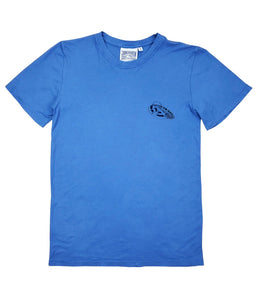 "Tee ""Retro Surf"" Blue Premium Hem/Cotton"