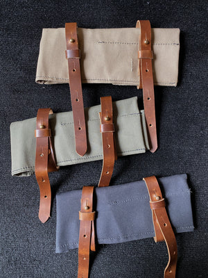 Tool Roll Canvas and Leather by Seaweed and Gravel