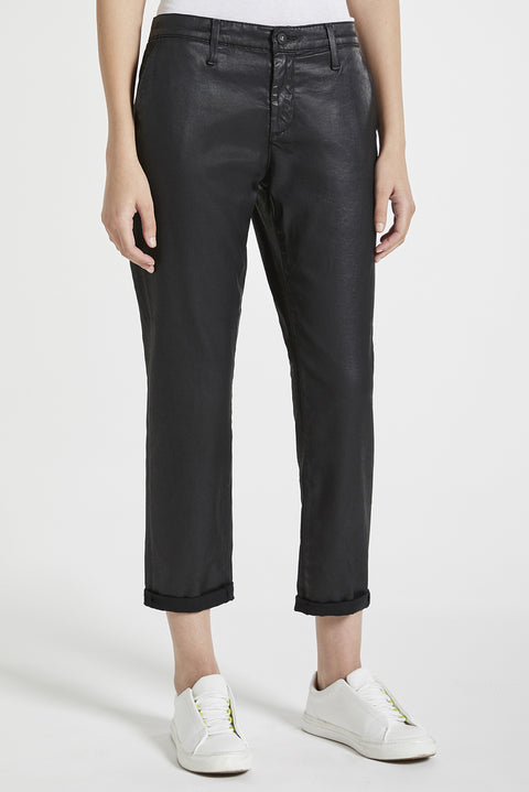 Caden Tailored Leatherette Trouser Pants