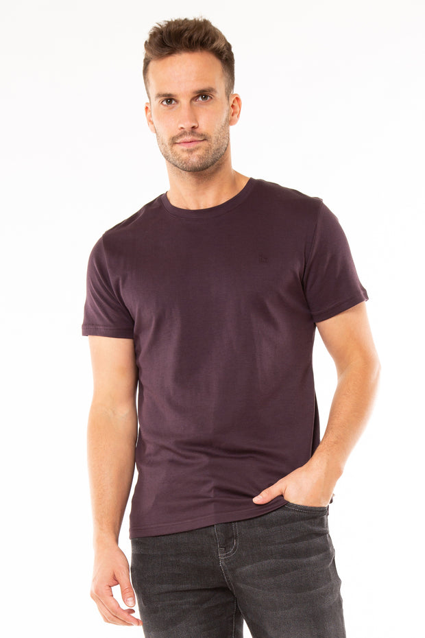 Superdry Mens Edit Jersey T-Shirt mulled plum