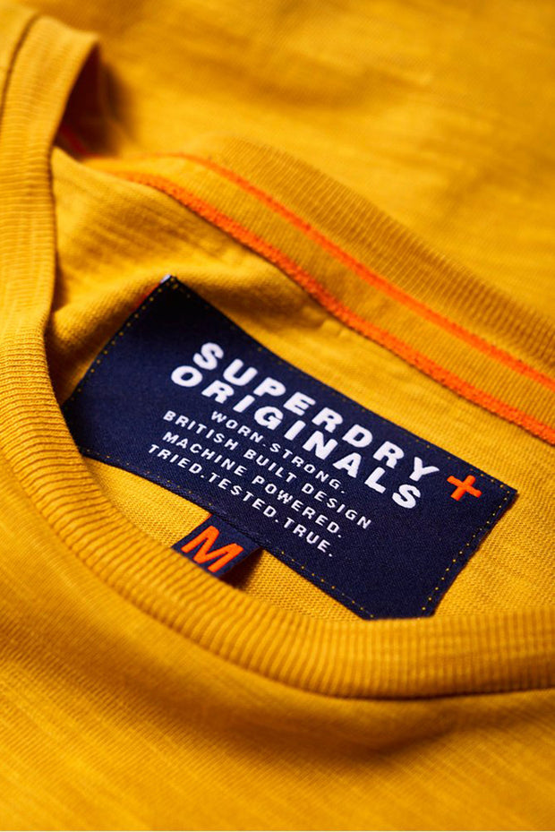 Superdry Mens Dry Originals Short Sleeve Pocket T-Shirt dry nugget gold