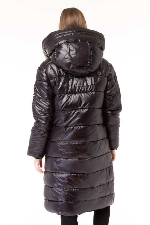 HIGH SHINE DUVET COAT