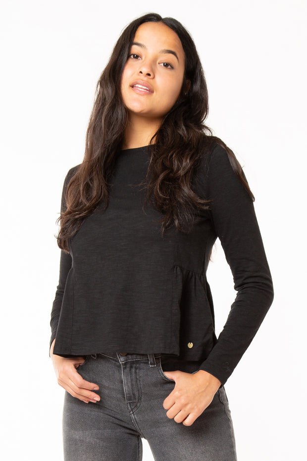 Peplum Rodeo Ls Top
