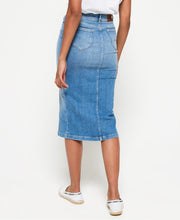 Denim Midi Pencil Skirt Womens