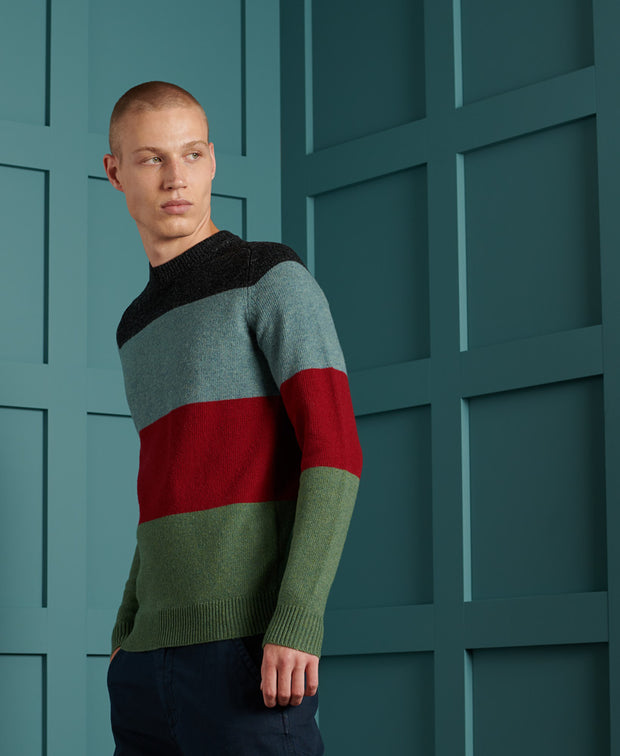 Harlo Colourblock Crew Mens