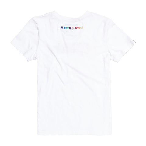 Superdry Womens Classic Rainbow Embroidered T-Shirt Optic White