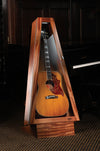 climastand, guitar humidor, free standing humidified guitar display case, african mahogany