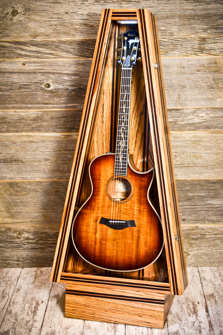 Zebrawood/Ribboned African Mahogany/Wenge ClimaStand | Acoustic/Electric | Triangle