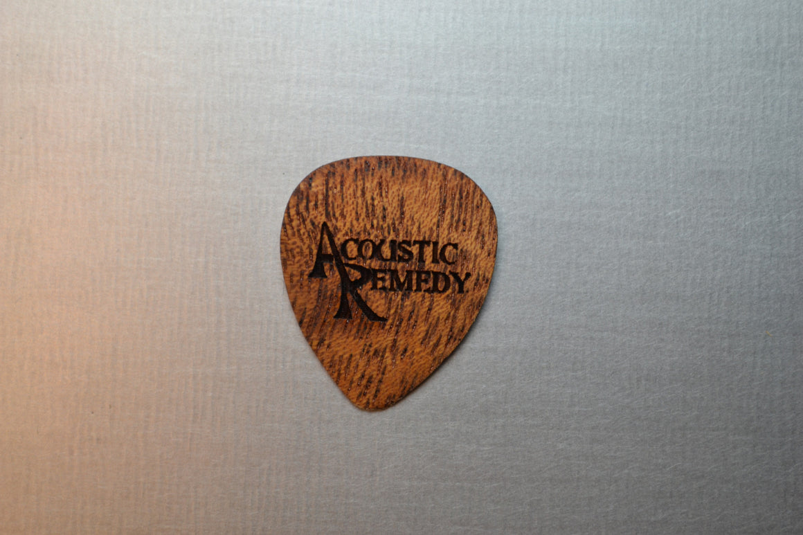 Ribboned Striped African Mahogany | Guitar Pick