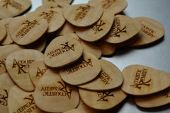 Flamed Maple Guitar Pick
