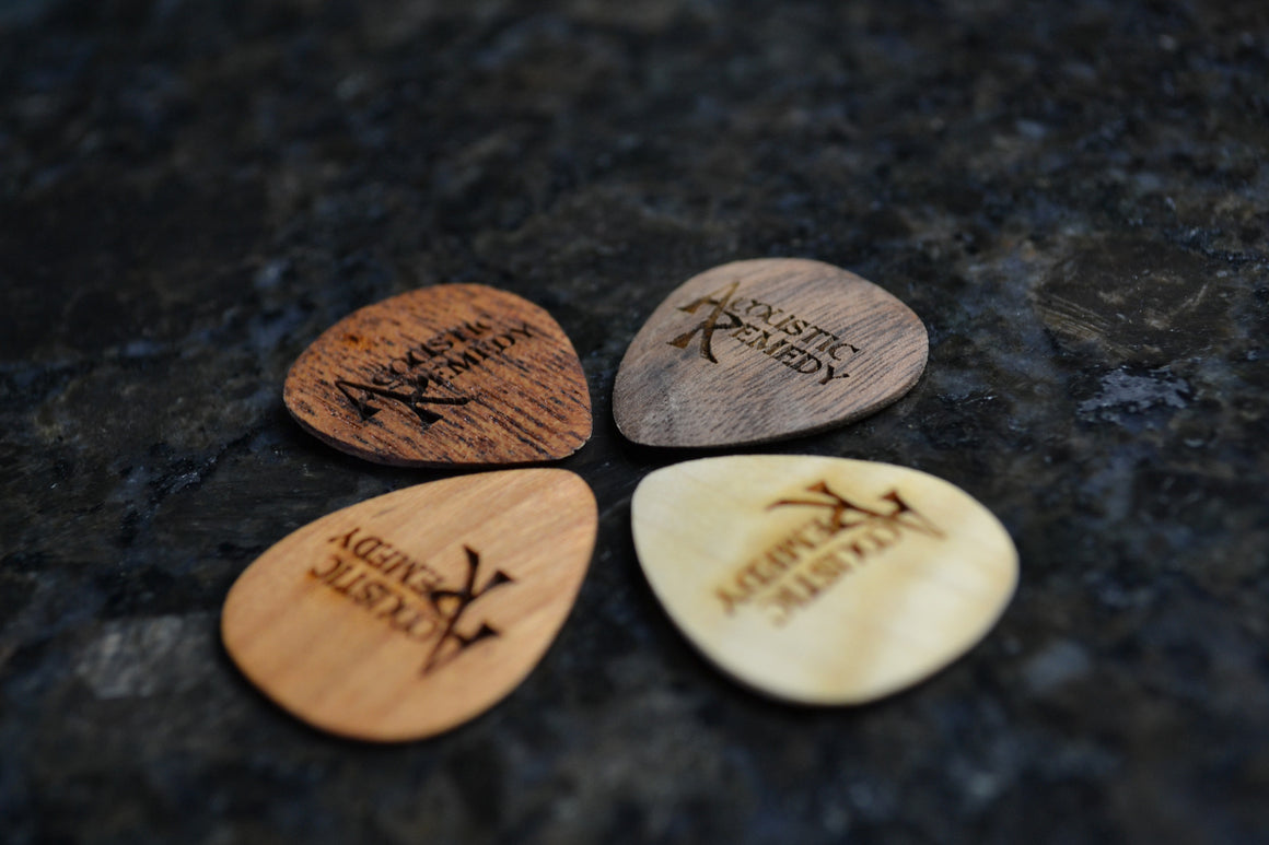 Guitar Picks | 4 Pack of Standard Woods