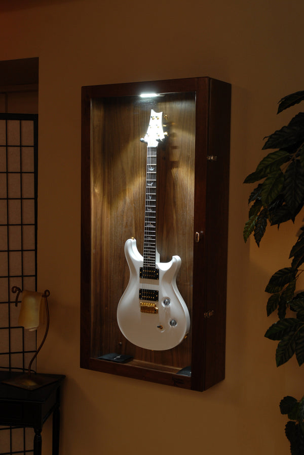 Guitar Wall Cases : rectangle wall mounted humidified guitar display case acoustic remedy ~ Vivirlamusica.com Haus und Dekorationen