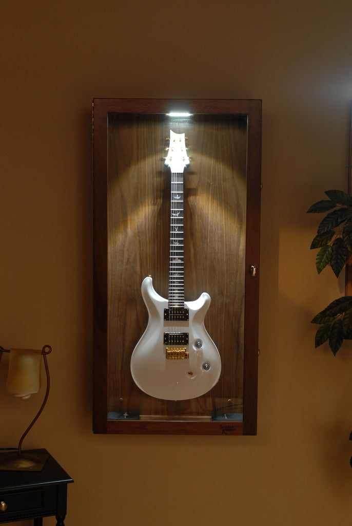 Rectangle Wall Mounted Humidified Guitar Display Case