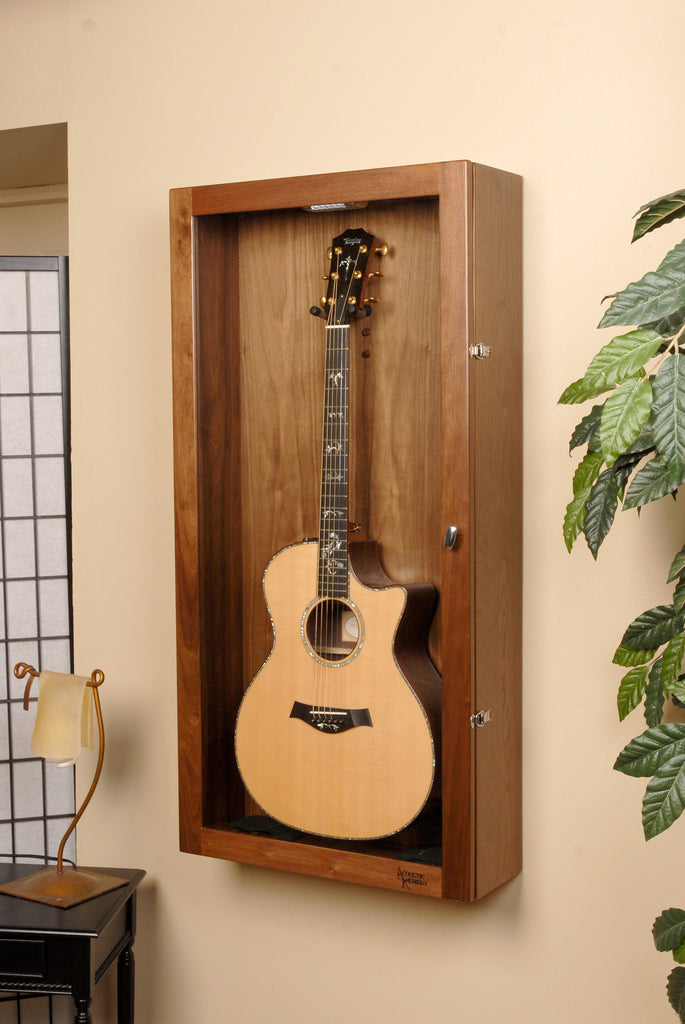 rectangle wall mounted humidified guitar display case acoustic remedy cases. Black Bedroom Furniture Sets. Home Design Ideas