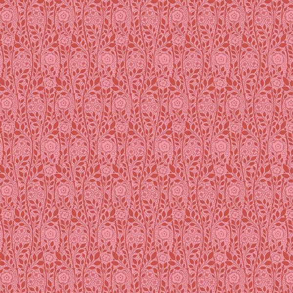 Liberty Cotton - Dark Pink Plain Floral