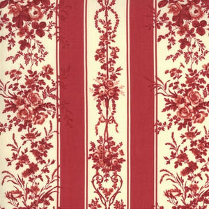 Floral Stripe in Red