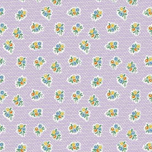 Adeline - Floral on Purple