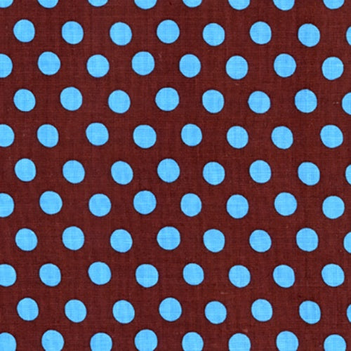 Kaffe Fassett Blue Spot on Brown