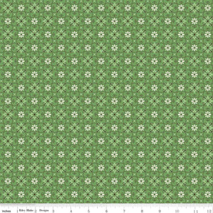 Riley Blake - Green Floral Geometric