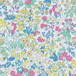 Liberty Cotton - Multi-Coloured Floral on Grey