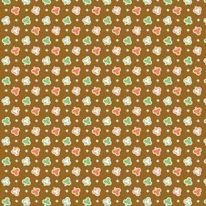 Green and Orange Clovers on Brown